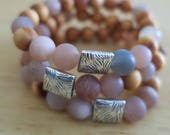 Pink   Rosewood   Aromatherapy   Essential Oil   Lava Rock   Diffuser Bracelet   Beaded Bracelet   Yoga   Stretch Bracelet   Handmade