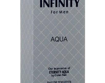 INFINITY AQUA Perfume Fragrances Cologne For Men EDP 3.3.oz inspired by Eternity Aqua