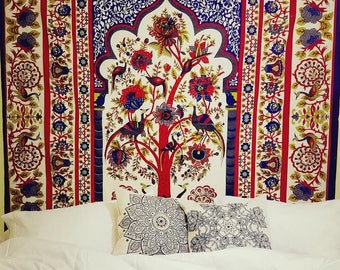 Tree of Life tapestry, Indian tapestry, wall hanging, wall tapestry, tree of life, Boho decor, Indian decor, Boho tapestry