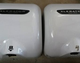 Used Excel Hand Dryers with heat, 120v, Xlerator Model XL-BW, Used only available, Tested ,*Free Shipping*, White housing,