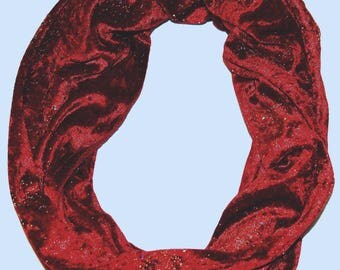 Red Scarf Women, Red Sparkle, Red Infinity Scarf, Scarf Women Handmade, Scarf Women Long, Sparkle Fabric, Teen Accessories, Teen Girl Gifts