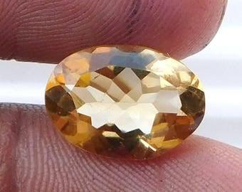 4.60 Ct 1 Ps Natural Citrine Loose Gemstone Natural Citrine Oval Cut Loose Gemstone 10 X 13.70 MM Ring Size Stone Natural Citrine Stone E173