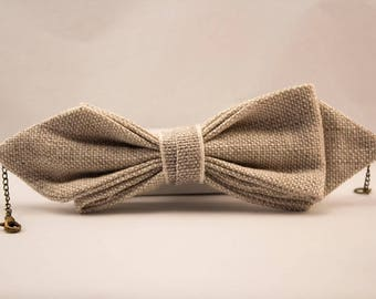 Bracelet linen bow tie.