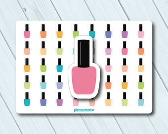 Nail polish labels | Etsy