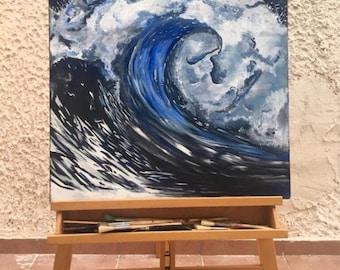 Wave Of Hope In The Dark Sea
