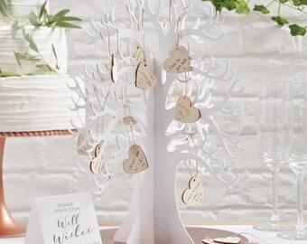 Wooden Wishing Tree Alternative Guest Book