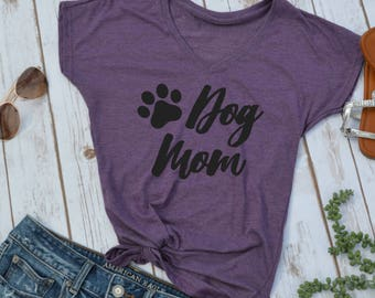 Dog Mom Shirt- Dog mom- mom of dogs- fur mama- Dog Mama