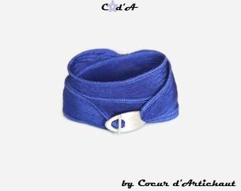 Klein Blue Silk Ribbon Bracelet