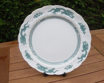 1920s booths green dragon ware large platter/table centrepiece