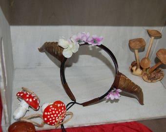 Bronze flower Demon Horns
