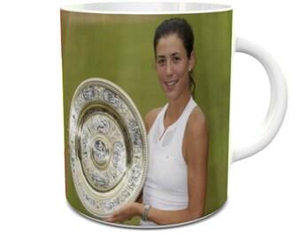 Garbine Muguruza Wimbledon Champion mug 11oz ceramic