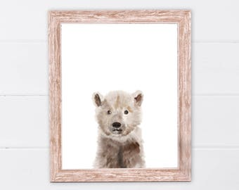 Bear print | Woodland animals | PRINTABLE Art | Nursery decor | Animal art | Baby animals | Nursery wall art | Bear Wall Art