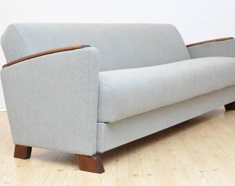 Vintage DANISH 3 Seat Sofa Design Mid Century Fully Restored