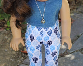 "18"" Doll Leggings and Crop Top to Fit Like American Girl Doll Clothes, 18"" Doll Clothes, Doll Leggings, 18"" Doll Leggings, 18"" Doll Outfit"