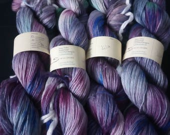 "Noble knitting yarn Merino/silk blend ""Lilac"""