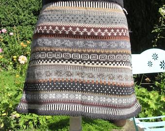 Knit Skirt Jord Gr. m
