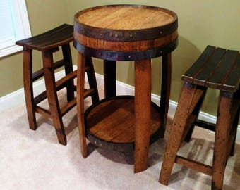 Whiskey Barrel Pub Table ~ Handcrafted From A Whiskey Barrel