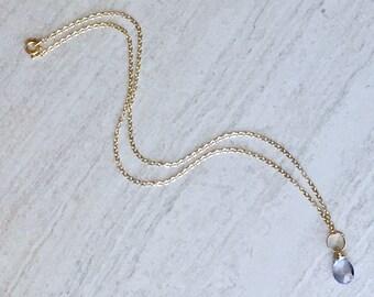 Mystic Blue Quartz Necklace