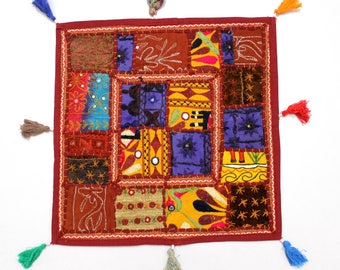 Handmade Hippie Gypsy Home Decor Ethnic Multi color Embroidered Hippy Patchwork Bohemian Pillow Shams Couch Cushion Cover Case G777