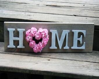 Rustic Home Sign - Modern Farmhouse Decor - Home Wood Sign - Entryway Decor - Rustic Decor - Country Home Decor - Shabby Chic Home Decor