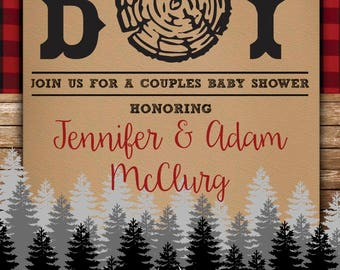 Lumber Jack Baby Shower Invitation