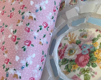 Ditsy Pink Floral Fabric