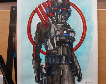 Star Wars Battlefront 2 - Inferno Squad ( A3 Prints)