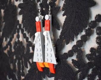 Handmade Star Wars LEGO earrings
