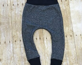 Baby pants // toddler pants // sweatpants // baby joggers // baby harems // French Terry pants // black pants