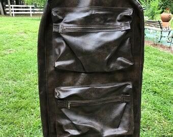 Vintage Garment Bag, Carry on Bag, Abdalla,Atlanta GA, Luggage,