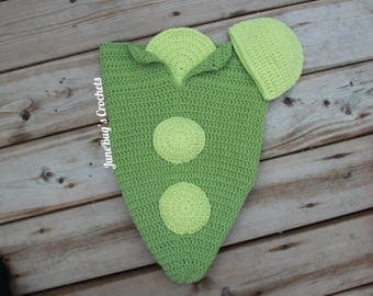 Pea Cocoon Newborn Photo Prop, Newborn Costume, Baby Shower Gift, Pea in a Pod, Peas and Carrot