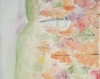 Watercolor Church