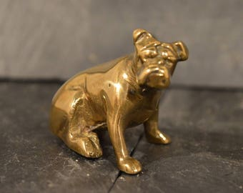 Brass British Bulldog ornament