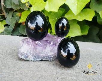 Yoni egg,  Gorgeus Obsidian Egg