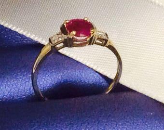 Ring Natural Ruby & Diamonds
