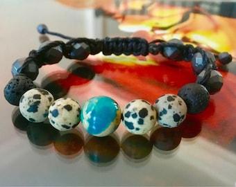 Duality Earth Shamballa Bracelet