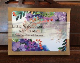 Little Wildflower Note Card Set