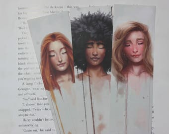 Three Soft Paint Bookmarks