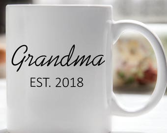 Grandma EST Coffee Mug, Grandma Established Mug, New Grandma Mug