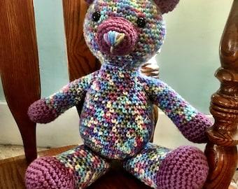 Crochet Plushie Teddy Bear, Plush Teddy Bear, Children's Plush Bear