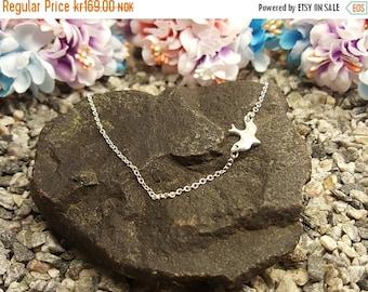 ON SALE Sideways bird charm, Dove necklace, sparrow necklace, flying bird necklace, small bird necklace, for dainty jewelry, love birds neck