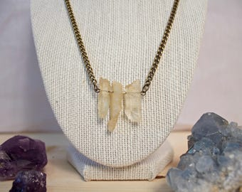 Triple Yellow Quartz Chain Necklace