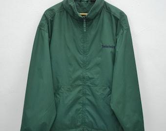 TIMBERLAND Sweater Vintage Timberland Weathergear 100% Nylon Zipper Jacket Sweater Size L