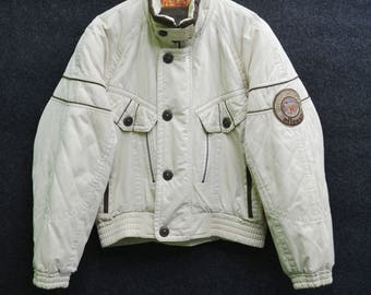 Rare!!! ELLESSE Jacket Vintage 90's Ellesse ICE FIELD Mountain Wildlife Zipper Button Jacket Size Jaspo M