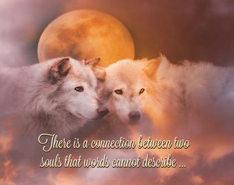 Happy Anniversary Soulmate Spiritual Southwestern Native American Anniversary Card with Wolves