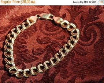 ON SALE stunning vintage high end sterling silver charm bracelet 8  inches
