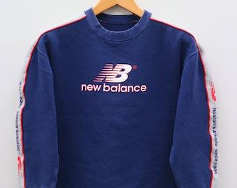 Vintage NEW BALANCE Sportswear Big Logo Big Speel Blue Sweater Sweatshirt