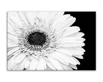 Rustic Canvas Decor, Flower Canvas Wall Art, Rustic Canvas Wall Art, Canvas Bathroom Decor, Black White, Canvas Bathroom Print, 24x36