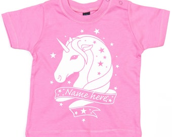 Personalised Unicorn Tshirt