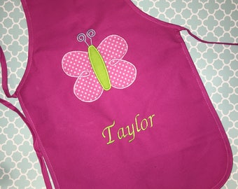 Personalized Butterfly Apron- Gardening Apron